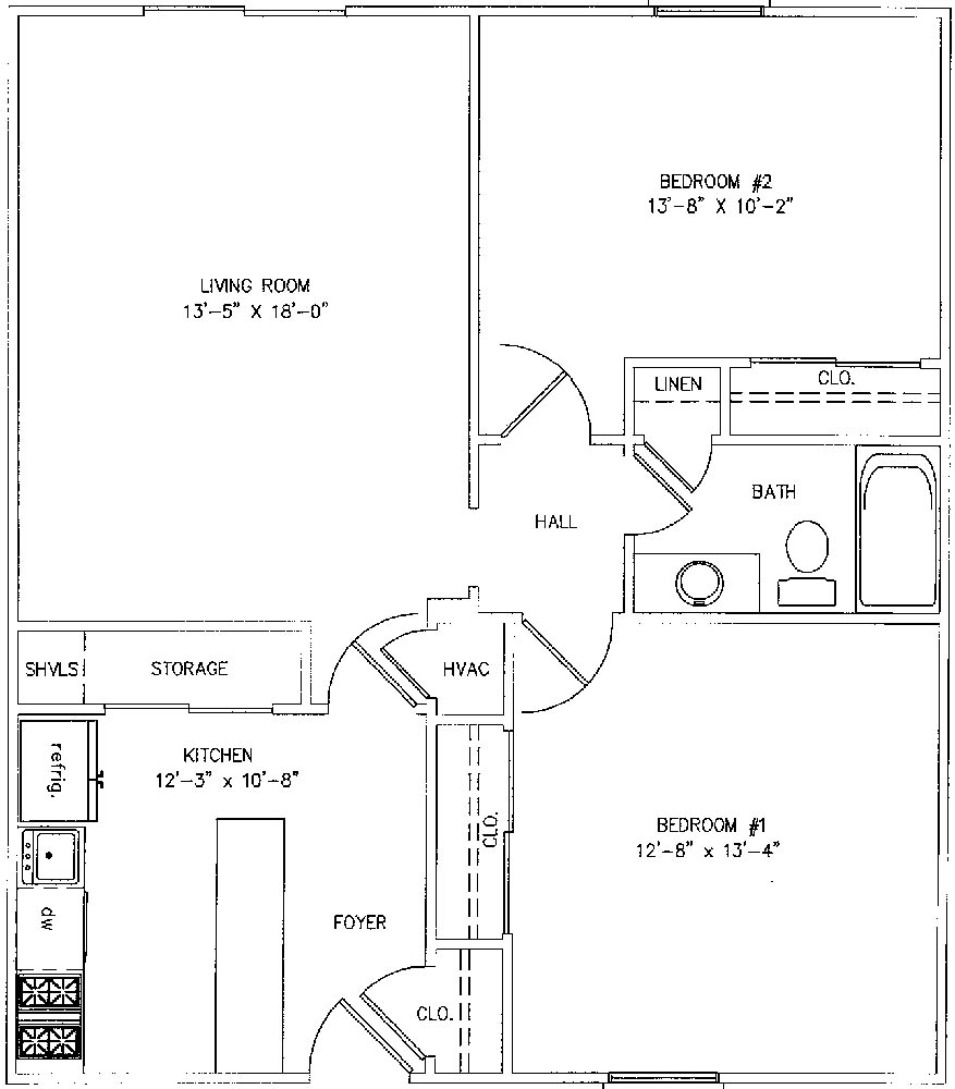 2 Bedroom Townhome 930 Square Feet Highslide JS  Chateau Cleary Apartments. 2 Bedroom Apartment Square Footage